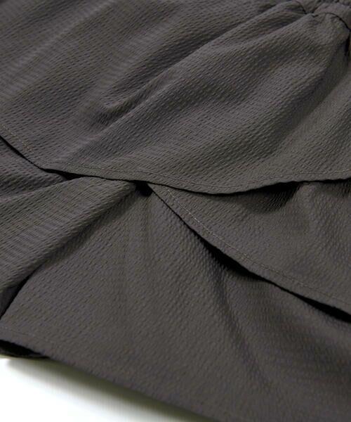 BeBe / べべ ショート・ハーフ・半端丈パンツ   ギンガム サッカー レイヤード スカート パンツ(80~150cm)   詳細8