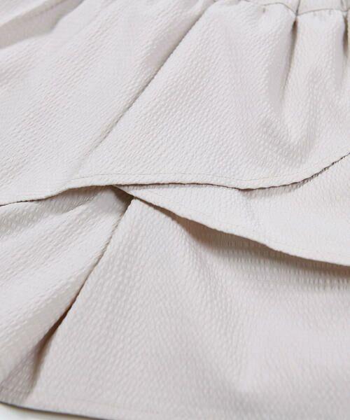 BeBe / べべ ショート・ハーフ・半端丈パンツ   ギンガム サッカー レイヤード スカート パンツ(80~150cm)   詳細12