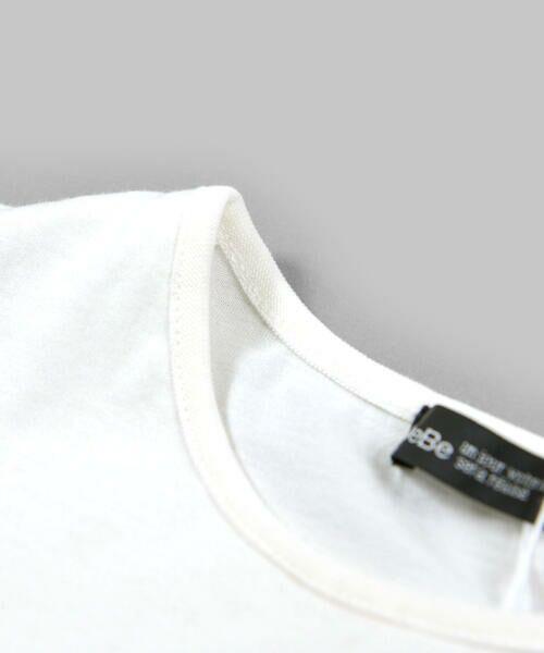 BeBe / べべ Tシャツ | 肩 フリル サテン リボン Tシャツ(90~150cm) | 詳細6