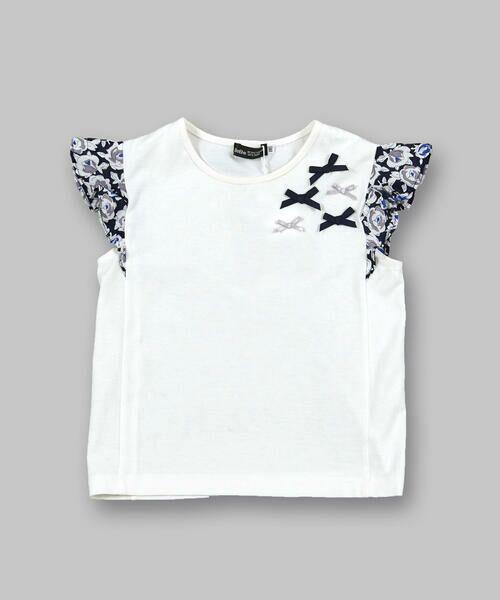 BeBe / べべ Tシャツ | 肩 フリル サテン リボン Tシャツ(90~150cm) | 詳細4
