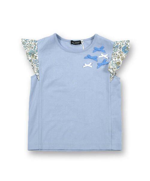 BeBe / べべ Tシャツ | 肩 フリル サテン リボン Tシャツ(90~150cm) | 詳細9