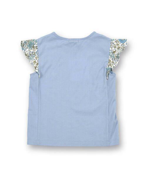 BeBe / べべ Tシャツ | 肩 フリル サテン リボン Tシャツ(90~150cm) | 詳細10