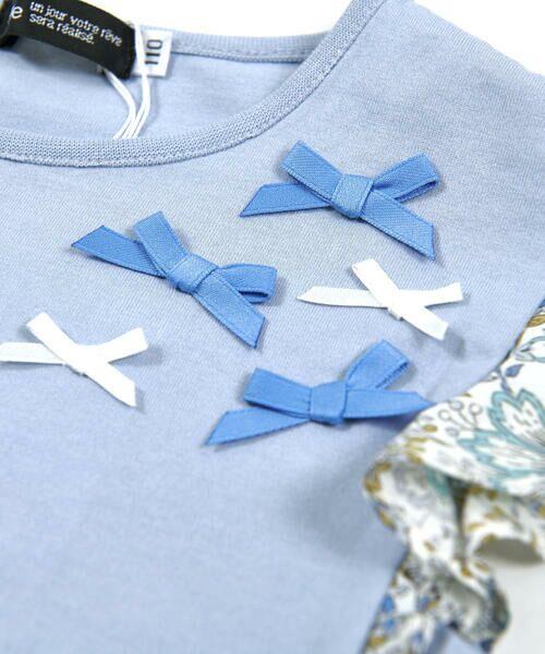 BeBe / べべ Tシャツ | 肩 フリル サテン リボン Tシャツ(90~150cm) | 詳細11