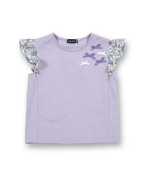 BeBe / べべ Tシャツ | 肩 フリル サテン リボン Tシャツ(90~150cm) | 詳細17