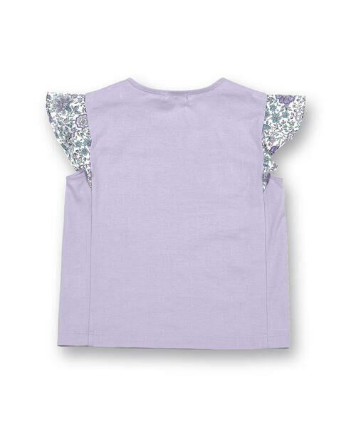 BeBe / べべ Tシャツ | 肩 フリル サテン リボン Tシャツ(90~150cm) | 詳細18