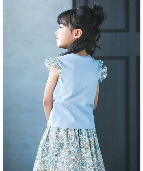 BeBe / べべ Tシャツ | 肩 フリル サテン リボン Tシャツ(90~150cm) | 詳細14