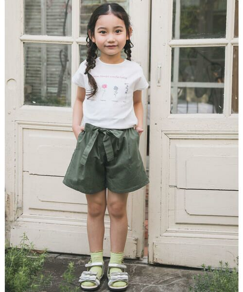 BeBe / べべ Tシャツ   【TioTio】フラワー プリント Tシャツ (90〜140cm)   詳細2