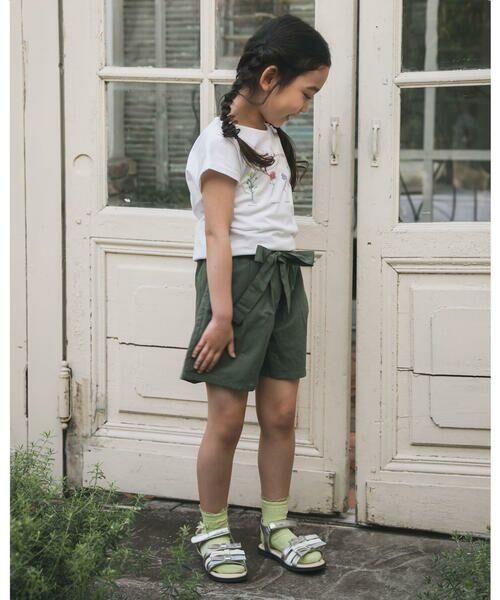 BeBe / べべ Tシャツ   【TioTio】フラワー プリント Tシャツ (90〜140cm)   詳細3