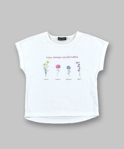 BeBe / べべ Tシャツ   【TioTio】フラワー プリント Tシャツ (90〜140cm)   詳細5