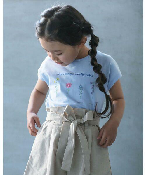 BeBe / べべ Tシャツ   【TioTio】フラワー プリント Tシャツ (90〜140cm)   詳細11