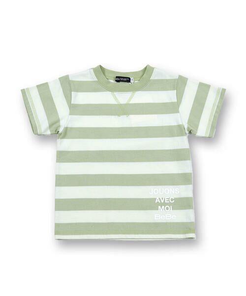 BeBe / べべ Tシャツ   配色 ボーダー レギュラー Tシャツ(90〜150cm)   詳細6