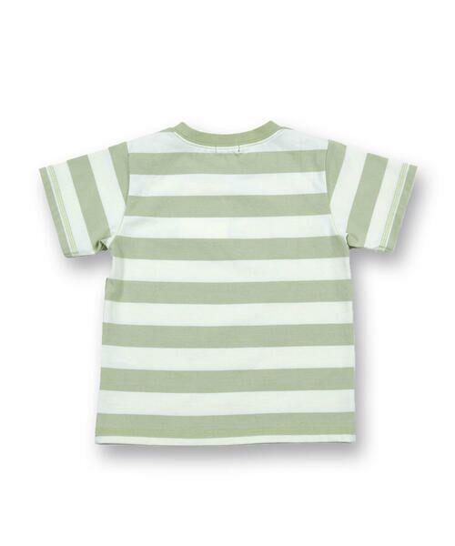 BeBe / べべ Tシャツ   配色 ボーダー レギュラー Tシャツ(90〜150cm)   詳細7