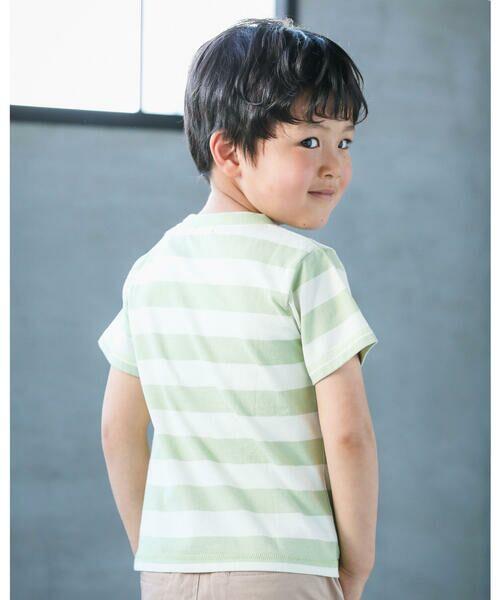 BeBe / べべ Tシャツ   配色 ボーダー レギュラー Tシャツ(90〜150cm)   詳細2