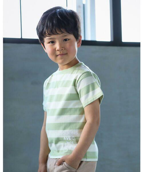 BeBe / べべ Tシャツ   配色 ボーダー レギュラー Tシャツ(90〜150cm)   詳細4