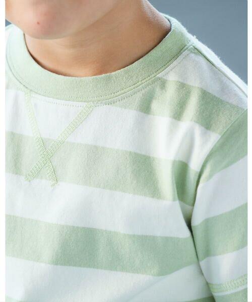 BeBe / べべ Tシャツ   配色 ボーダー レギュラー Tシャツ(90〜150cm)   詳細5