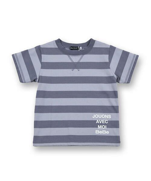 BeBe / べべ Tシャツ   配色 ボーダー レギュラー Tシャツ(90〜150cm)   詳細16