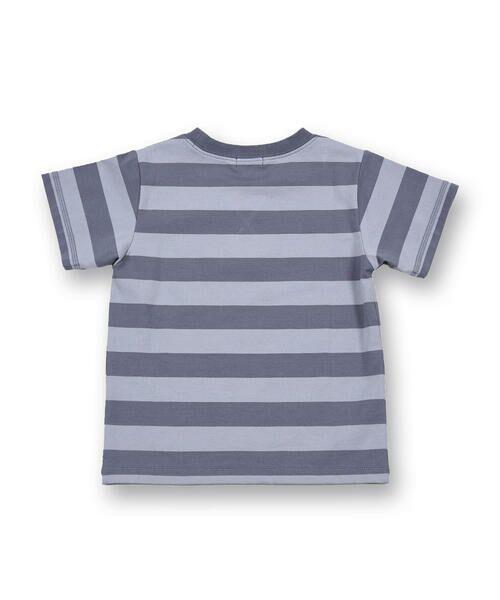 BeBe / べべ Tシャツ   配色 ボーダー レギュラー Tシャツ(90〜150cm)   詳細17