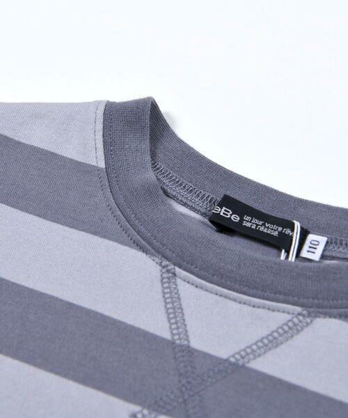 BeBe / べべ Tシャツ   配色 ボーダー レギュラー Tシャツ(90〜150cm)   詳細18