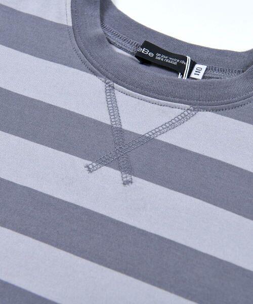 BeBe / べべ Tシャツ   配色 ボーダー レギュラー Tシャツ(90〜150cm)   詳細19
