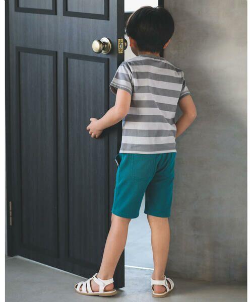 BeBe / べべ Tシャツ   配色 ボーダー レギュラー Tシャツ(90〜150cm)   詳細12