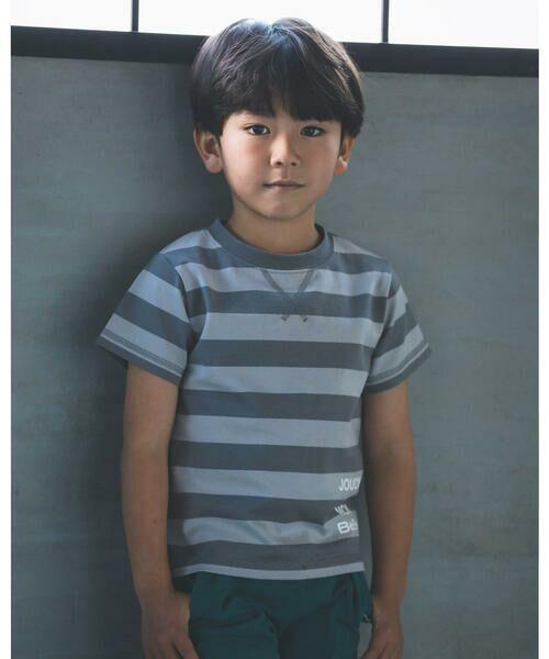 BeBe / べべ Tシャツ   配色 ボーダー レギュラー Tシャツ(90〜150cm)   詳細14