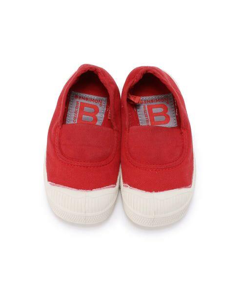 BENSIMON / ベンシモン スニーカー | Tennis Elastique キッズ(red)