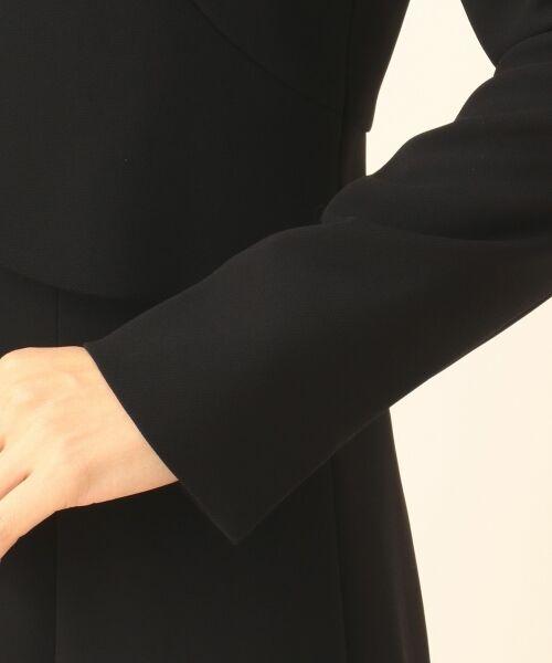 BLACK FORMAL / ブラックフォーマル セットアップ | 【盛夏対応】ガーシュストレッチバーズアイ ジャケット+ワンピース | 詳細19
