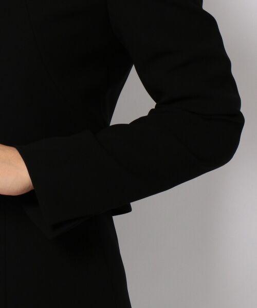 BLACK FORMAL / ブラックフォーマル セットアップ | 【盛夏対応】ガーシュストレッチバーズアイ ジャケット+ワンピース | 詳細25