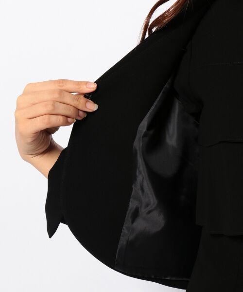 BLACK FORMAL / ブラックフォーマル セットアップ | 【盛夏対応】ガーシュストレッチバーズアイ ジャケット+ワンピース | 詳細29