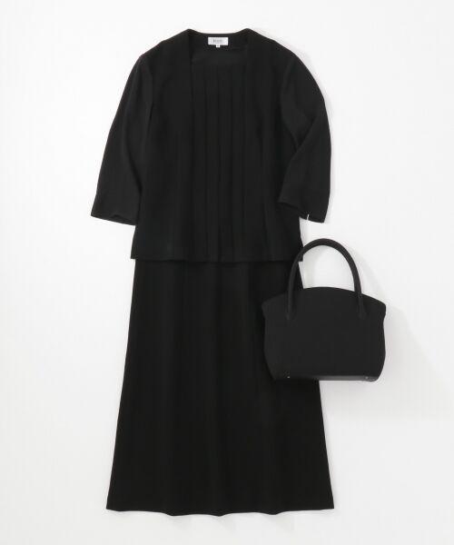 BLACK FORMAL / ブラックフォーマル ハンドバッグ | 【日本製】米沢織り マグネットバッグ | 詳細11