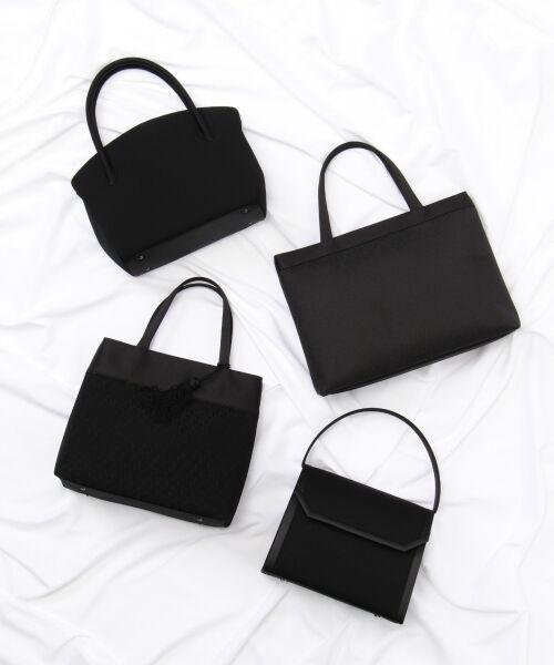 BLACK FORMAL / ブラックフォーマル ハンドバッグ | 【日本製】米沢織り マグネットバッグ | 詳細12