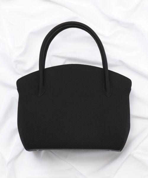 BLACK FORMAL / ブラックフォーマル ハンドバッグ | 【日本製】米沢織り マグネットバッグ(ブラック系)