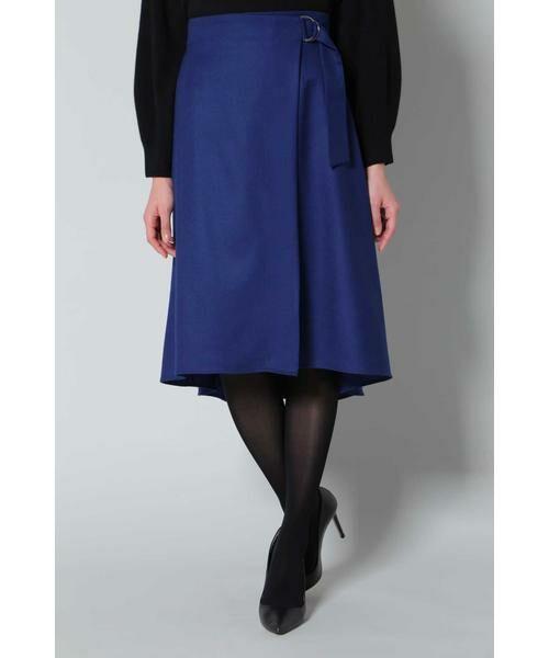 BOSCH / ボッシュ スカート | ウールサキソニースカート(ブルー)