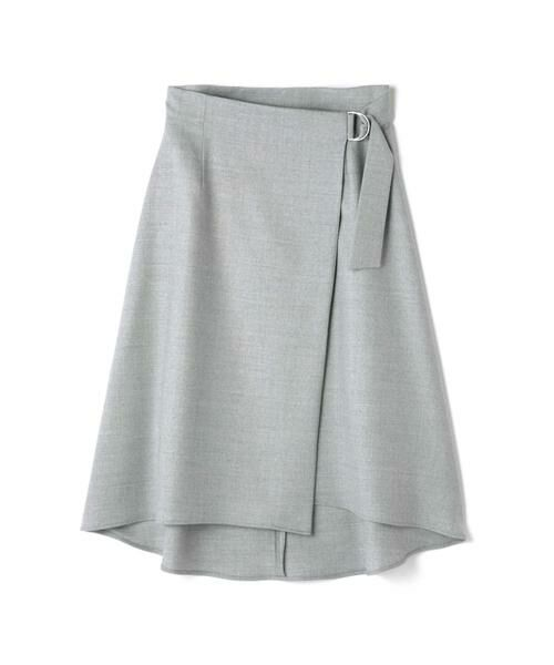 BOSCH / ボッシュ スカート | ウールサキソニースカート(メランジグレー)