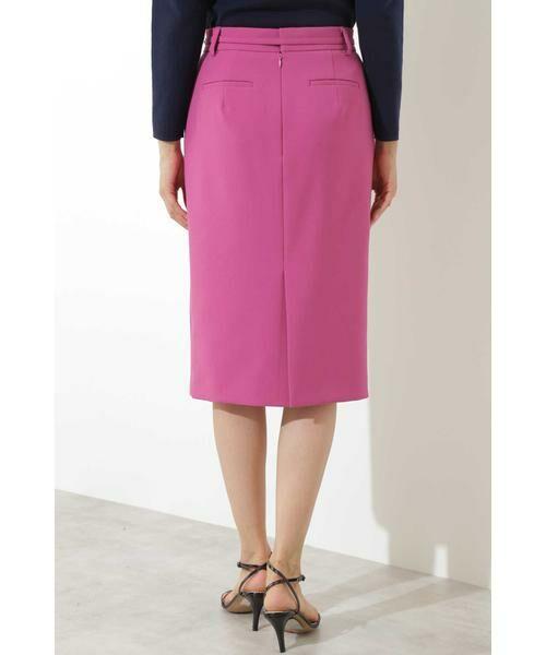 BOSCH / ボッシュ スカート | [ウォッシャブル]T/Rダブルクロスタイトスカート(ピンク)