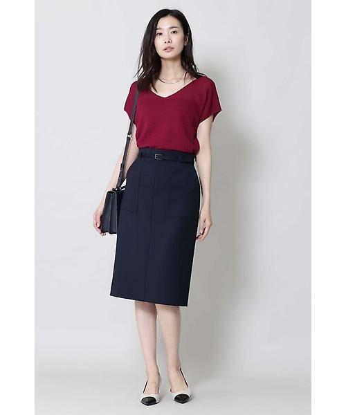 BOSCH / ボッシュ スカート | [ウォッシャブル]ベルテッドポケットタイトスカート | 詳細2