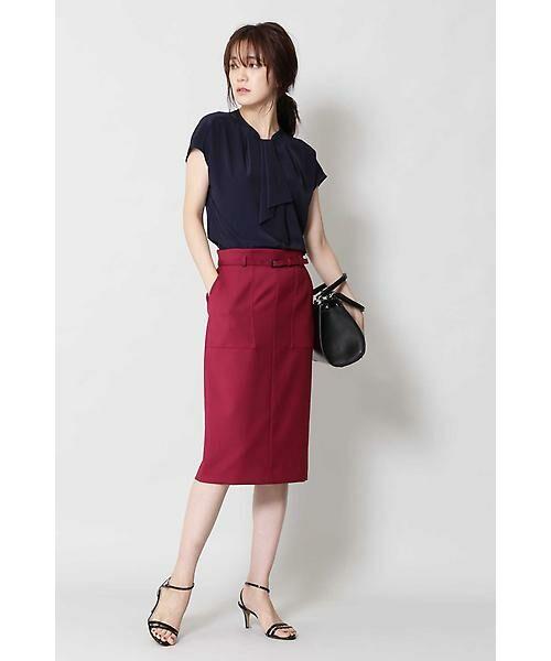 BOSCH / ボッシュ スカート | [ウォッシャブル]ベルテッドポケットタイトスカート | 詳細5