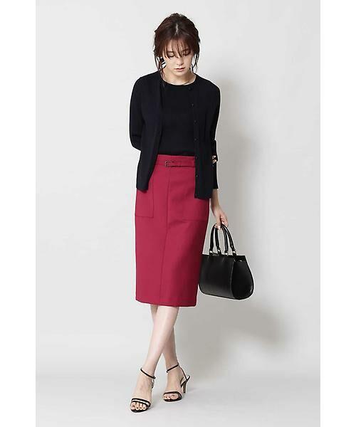 BOSCH / ボッシュ スカート | [ウォッシャブル]ベルテッドポケットタイトスカート | 詳細6