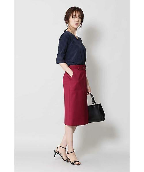 BOSCH / ボッシュ スカート | [ウォッシャブル]ベルテッドポケットタイトスカート | 詳細7