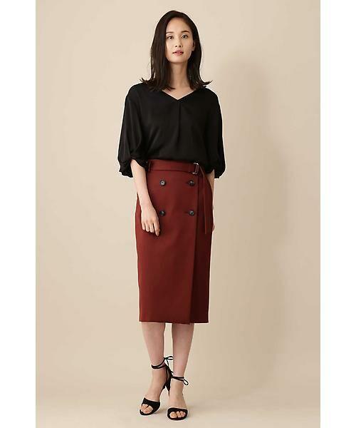 BOSCH / ボッシュ スカート | 《B ability》前釦ラップタイトスカート | 詳細6