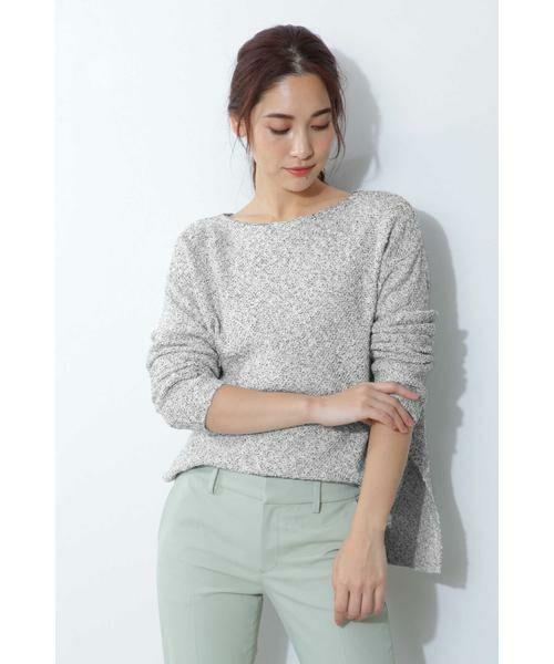 BOSCH / ボッシュ ニット・セーター | ◆スラブツイードニット(ホワイト1)
