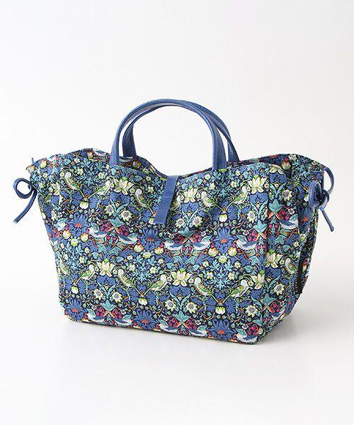 brontibayparis / ブロンティベイパリス ハンドバッグ   コットン ハンドバッグ フランス製(ブルー*イスキアブルー)