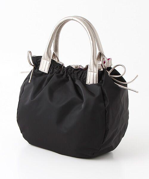 brontibayparis / ブロンティベイパリス ハンドバッグ   ナイロンA4トートバッグ 「テオドラ」(ブラック*ゴールド)