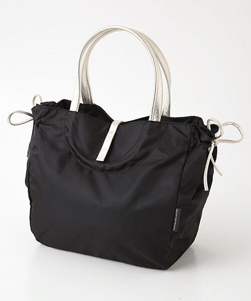 brontibayparis / ブロンティベイパリス トートバッグ   A4ナイロントートバッグ「フローレンス」(ブラック*ゴールド)