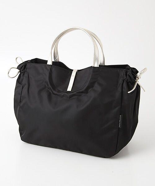 brontibayparis / ブロンティベイパリス トートバッグ | A4ナイロントートバッグ「シエナ」(ブラック*ゴールド)