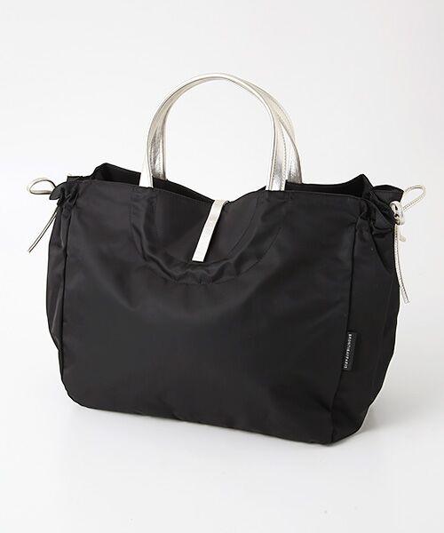 brontibayparis / ブロンティベイパリス トートバッグ   A4ナイロントートバッグ「シエナ」(ブラック*ゴールド)