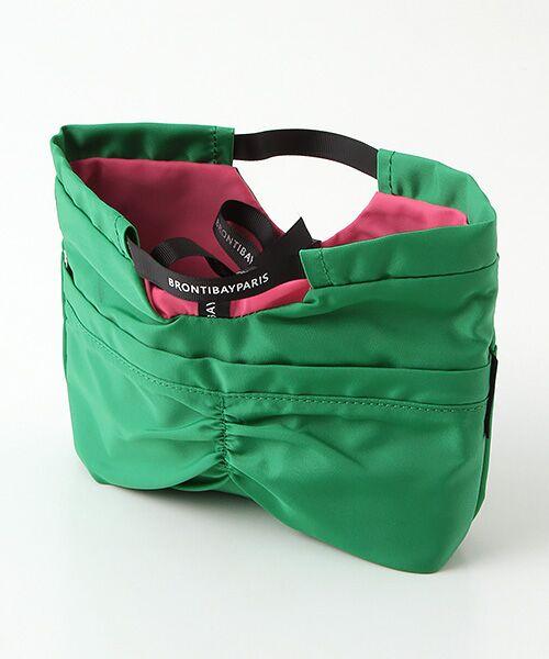brontibayparis / ブロンティベイパリス ポーチ | ◇BRONTIBAYPARISバッグインバッグ「キューティ」(グリーン*ショッキングピンク)
