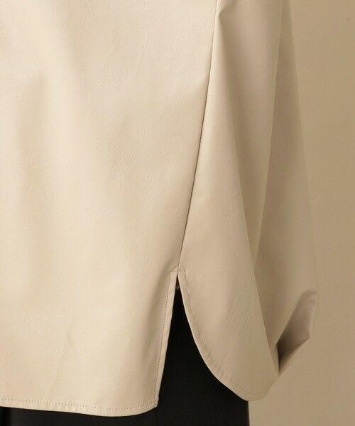 CAST: / キャスト コロン シャツ・ブラウス | フェイクレザーシャツ | 詳細14
