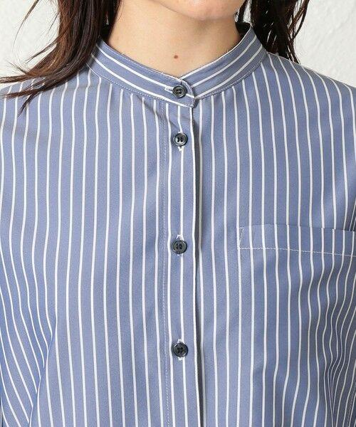 CAST: / キャスト コロン シャツ・ブラウス | ストライプパターンコンビシャツ | 詳細9