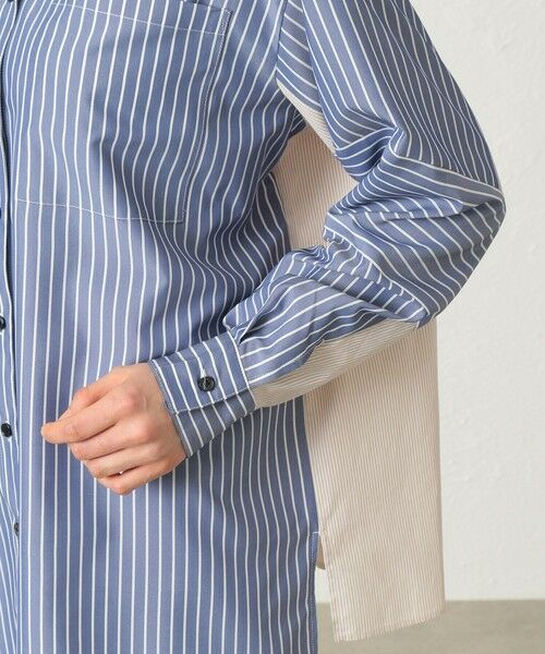 CAST: / キャスト コロン シャツ・ブラウス | ストライプパターンコンビシャツ | 詳細10